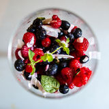 Fresh berries salad stock photography