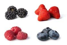 Fresh berries set stock photography