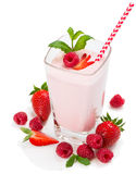 Fresh berries and smoothie Royalty Free Stock Photography