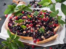 Fresh berries tart Stock Photo