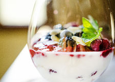 Fresh berries triffle Royalty Free Stock Images