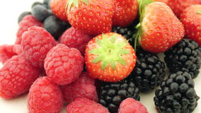 Fresh berries turning stock video footage