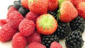 Fresh berries turning stock video footage
