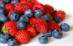 Fresh berries on the white Royalty Free Stock Photography