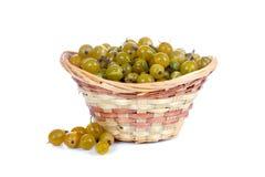 Fresh berries in a wicker basket Royalty Free Stock Image