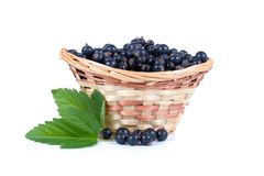 Fresh berries in a wicker basket Royalty Free Stock Photo