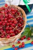 Fresh berries in a wicker basket Stock Photo