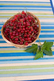 Fresh berries in a wicker basket Royalty Free Stock Photography
