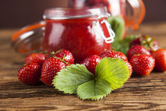 Fresh berries and wild berry jam Royalty Free Stock Photography