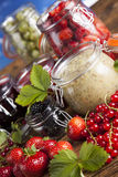 Fresh berries and wild berry jam Royalty Free Stock Image