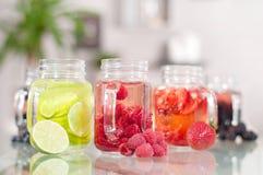 Fresh berry cocktail, refreshing fruit beverage Stock Photos