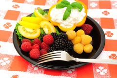 Fresh Berry And Cottage Cheese Salad Stock Image