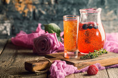 Fresh berry drink Royalty Free Stock Photo