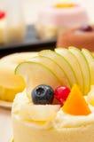 Fresh berry fruit cake Stock Photo