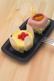Fresh berry fruit cake Stock Photography