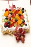 Fresh berry fruit cream cake Royalty Free Stock Photos