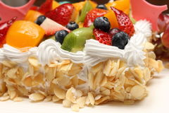 Fresh berry fruit cream cake Royalty Free Stock Image