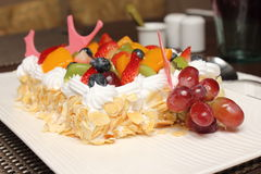 Fresh berry fruit cream cake Royalty Free Stock Images