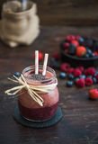 Fresh Berry Fruit Smoothie Stock Images