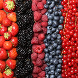 Fresh berry fruits background Royalty Free Stock Photos
