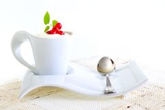 Fresh berry fruits with yogurt Stock Photo