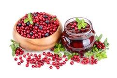 Fresh berry jam Stock Images