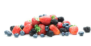 Fresh berry mix Stock Photo