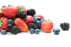 Fresh berry mix Royalty Free Stock Photos