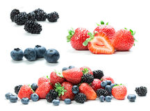 Fresh berry mix Royalty Free Stock Images