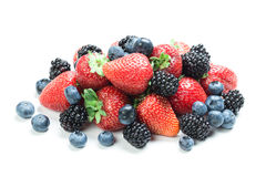 Fresh berry mix Stock Photography