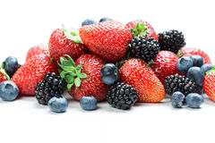 Fresh berry mix Stock Images