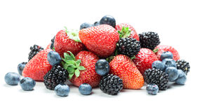Fresh berry mix Stock Photos