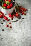 Fresh berry in mug Royalty Free Stock Image