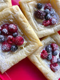 Fresh berry pastries Stock Photos