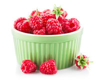 Fresh berry raspberry with green leaf Royalty Free Stock Image