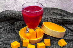 Fresh berry smoothies with pumpkin. Fresh berry smoothies for breakfast with pumpkin Royalty Free Stock Images