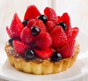 Fresh berry tart Stock Photography