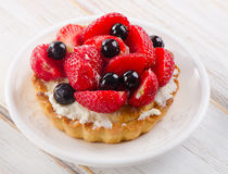 Fresh berry tart Royalty Free Stock Photos