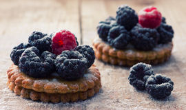 Fresh berry tartlet or cake Stock Photo