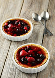 Fresh berry tarts Stock Photos