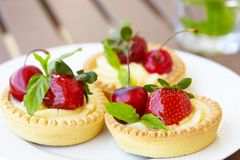 Fresh Berry Tarts Royalty Free Stock Image