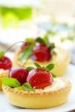 Fresh Berry Tarts Stock Photo