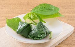 Fresh Betel Leaf Wrapped Bite Size Appetizer Stock Images