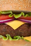 Fresh big hamburger macro Royalty Free Stock Photography