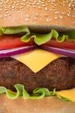 Fresh big hamburger macro Royalty Free Stock Photography