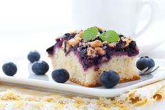 Fresh bilberry cake Royalty Free Stock Photo
