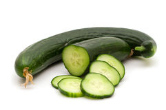 Fresh bio cucumber Stock Images