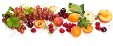 Fresh bio mix fruits and berries Royalty Free Stock Image
