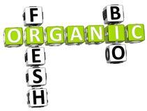 Fresh Bio Organic Crossword. 3D Fresh Bio Organic Crossword on white background Royalty Free Stock Image