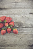 Fresh bio strawberry Stock Image
